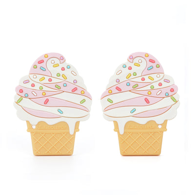 ICE CREAM CONE SILICONE TEETHER