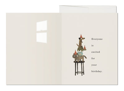 EVERYONE IS EXCITED CARD