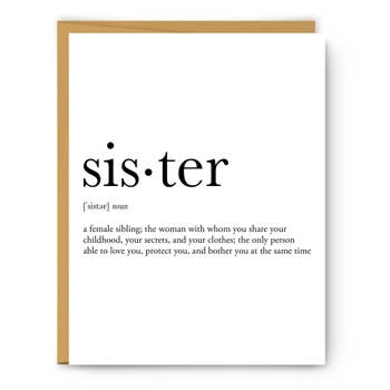 SISTER DEFINITION