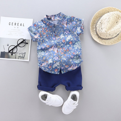 DAVID BUTTON DOWN & SHIRT SET