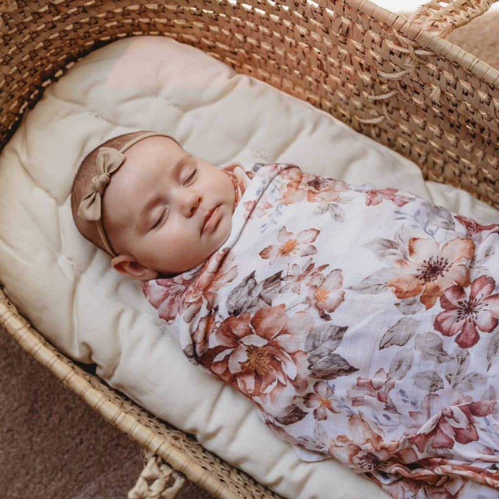 SUNSET FLORAL SWADDLE