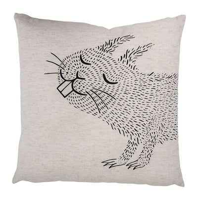 CRAZY CRITTER LINEN PILLOW