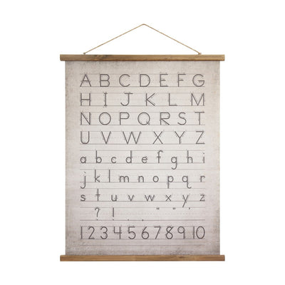 ALPHABET & NUMBERS WALL DECOR