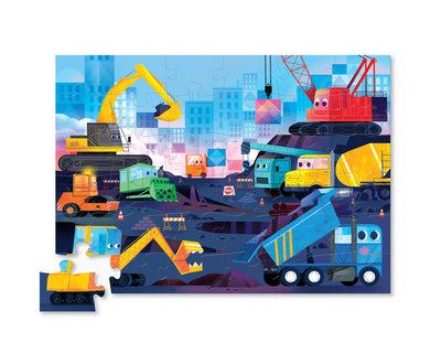 36 PIECE CONSTRUCTION ZONE SHAPED PUZZLE