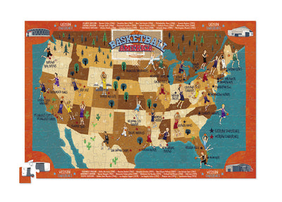 Basketball America Poster Puzzle