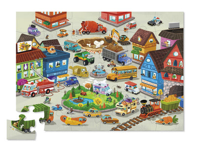 36 PIECE BUSY CITY SHAPED PUZZLE