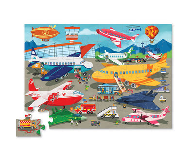 36 PIECE BUSY AIRPORT SHAPED PUZZLE