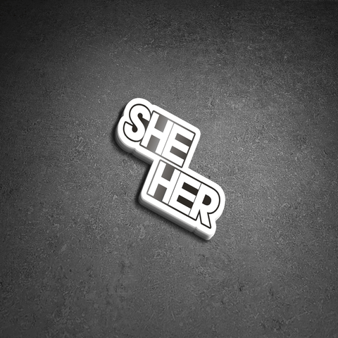 SHE Vinyl Sticker