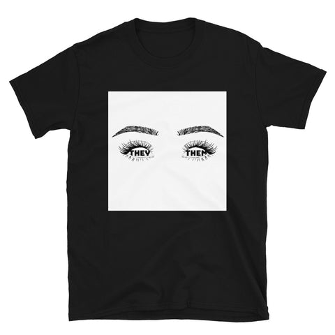 They/Them Eyes Shirt - Black