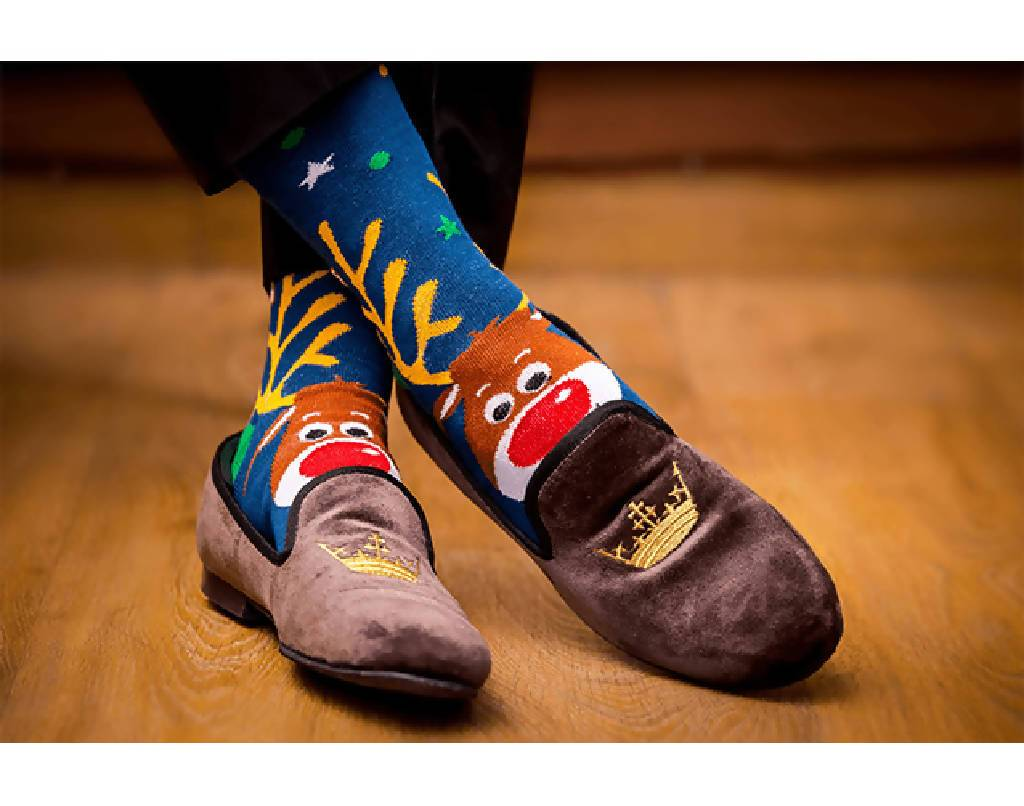 Happy Reindeer Edition - Nuaah | An Indian Bazaar - Luxury Men Socks