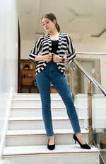 Stripe Cardigan - Nuaah | An Indian Bazaar - Clothing