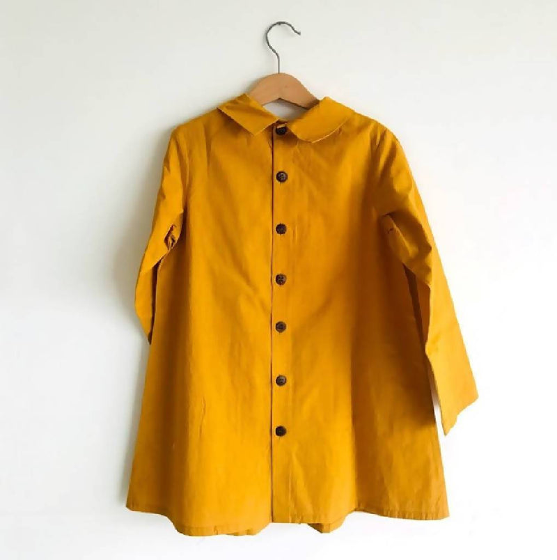 Ava Button Back Dress (Mustard) - Nuaah | An Indian Bazaar - Kidswear