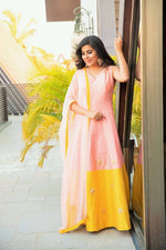 Classy Pink Yellow Suit Set - Nuaah | An Indian Bazaar - Suit Set