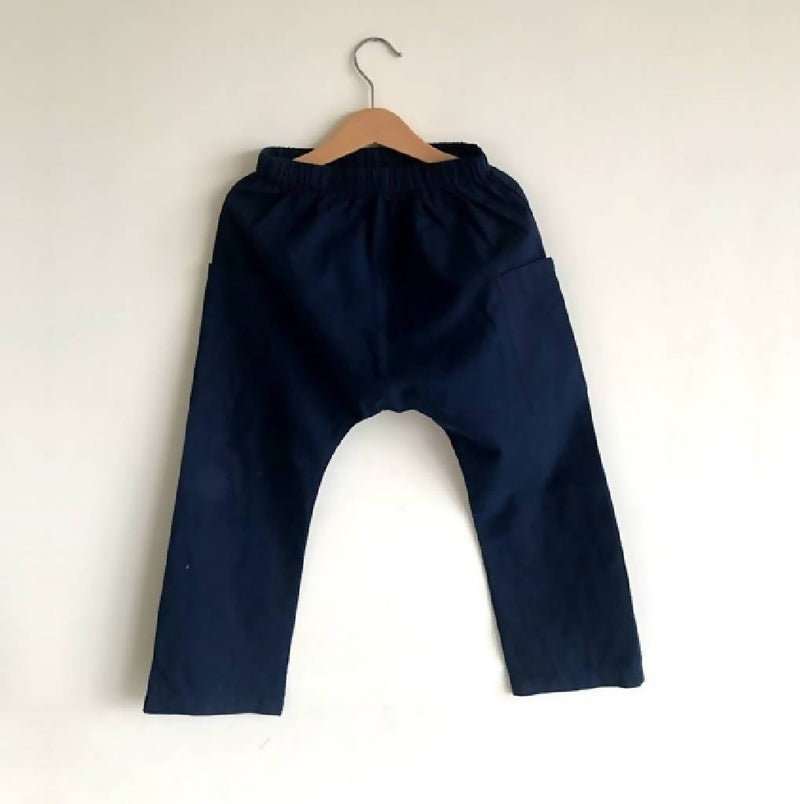 Aaron Pants with Pockets (Navy) - Nuaah | An Indian Bazaar - Kidswear
