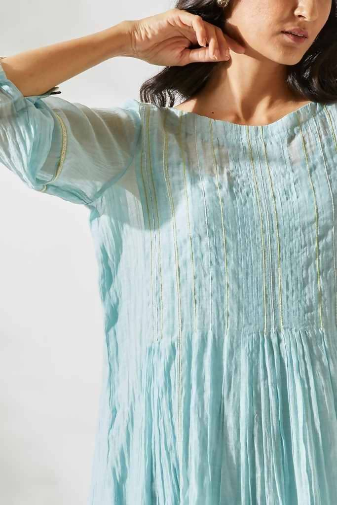 VINTAGE FLIRTY PLEATS TUNIC SET - Nuaah | An Indian Bazaar - TUNIC SET