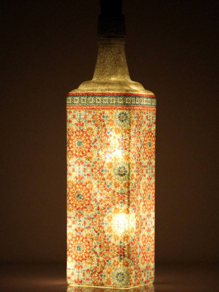 Bottle Lamp Decor - Nuaah | An Indian Bazaar - Recycled home decor