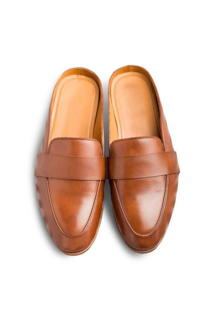 Hoffler Marrone - Nuaah | An Indian Bazaar - Slip-On Mules