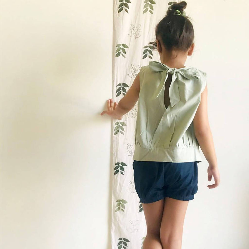 Emma Open Back Blouse (Green Grey) - Nuaah | An Indian Bazaar - Kidswear