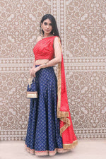 Brocade Lehenga + Draped Blouse - Nuaah | An Indian Bazaar - Lehenga Blouse