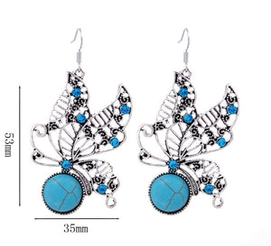 Turquoise Butterfly Jewelry Set