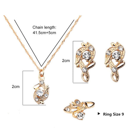 Lady Luck Crystal Pendant Jewelry Gift Set - style 5