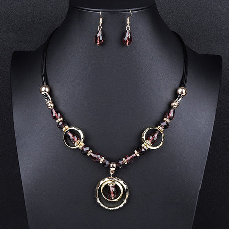 Lady Joker Acrylic Beaded Fashion Jewelry Set - Style 5