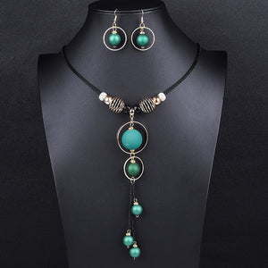 Lady Joker Acrylic Beaded Fashion Jewelry Set - Style 8