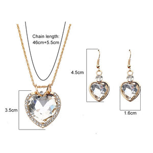 The Cleopatra Heart Shaped Luxury Jewelry Gift - Crystal Style 2