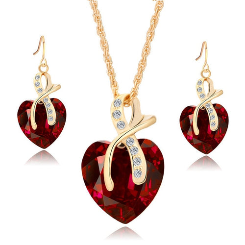 The Cleopatra Heart Shaped Luxury Jewelry Gift - Ruby