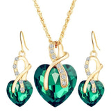 The Cleopatra Heart Shaped Luxury Jewelry Gift - Emerald