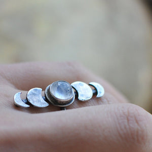 The Moon is Bright Ring - size 8