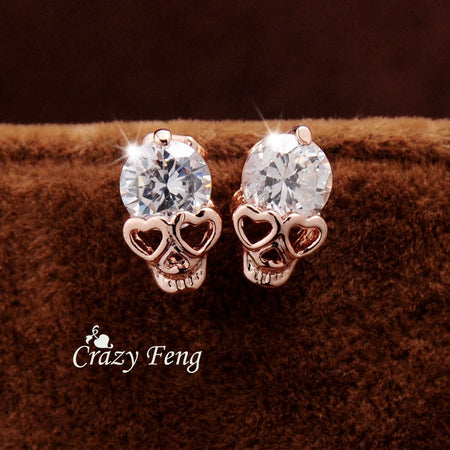 Motorhead Earrings Jewelry Gift - White