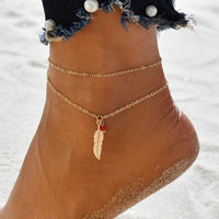 Freyja Multi-layer Ankle Bracelet Set - Style 9