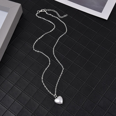 Cleopatra's Pearl Necklace - Silver