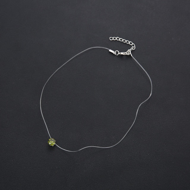 Crystal Charm Butterfly Choker - Style 3
