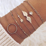 Spellcast 6pcs Wing Design Bracelet Set