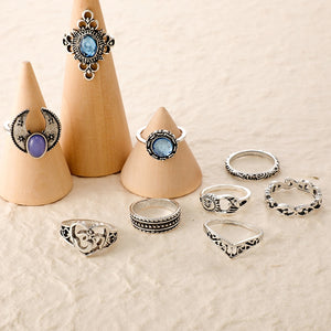 Sallust 10pcs Vintage Ring Set