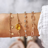 Charming Geometric 4pc Bracelet Set