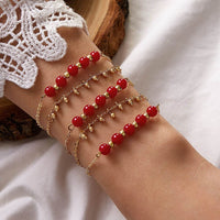 Sweet Fragrance Red Bead Bracelets