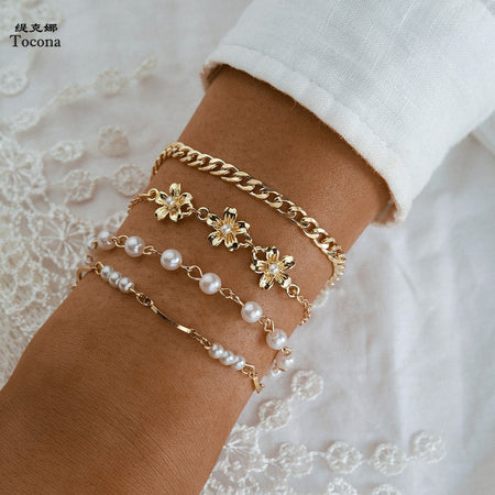 Luxury Lucky Pearl Stone Bracelet Jewelry Gift