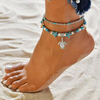 Double Layer Starfish Retro Anklet