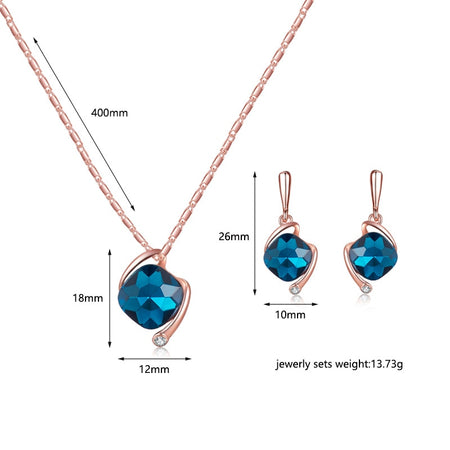 Horus Crystal Pendant Jewelry Gift Set
