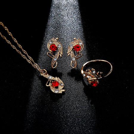 Lady Luck Crystal Pendant Jewelry Gift Set - style 2