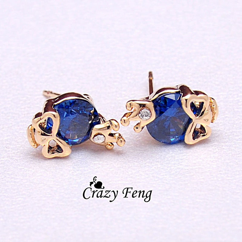 Motorhead Earrings Jewelry Gift - Blue
