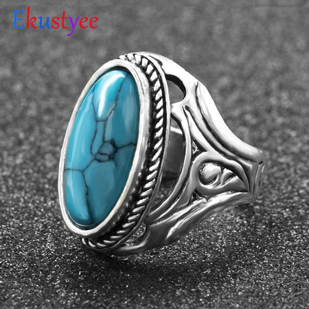 Secret Stone Tibetan Ring Jewelry Gift - Size 9