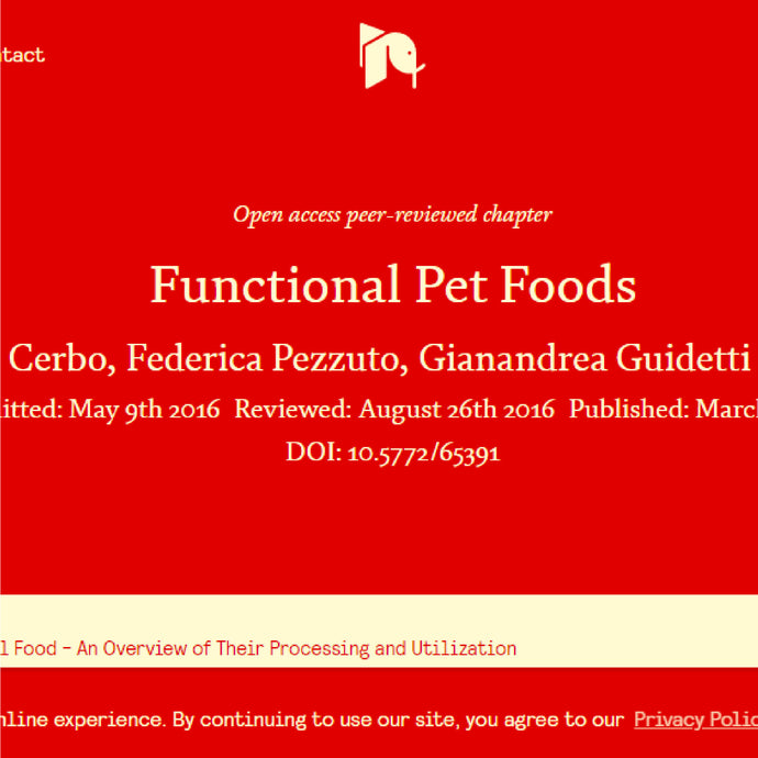 Functional foods in dogs and cats