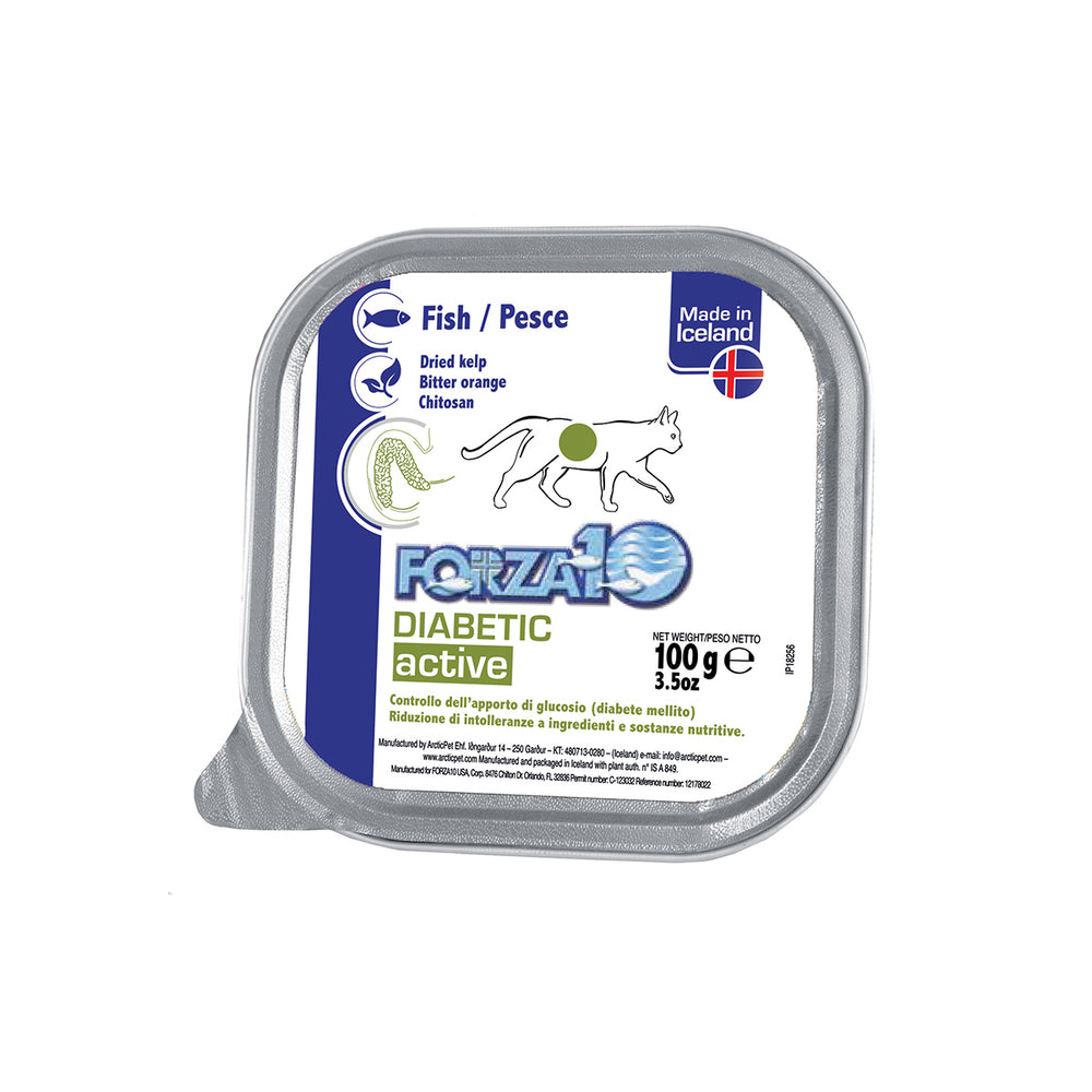 Forza10 Nutraceutic ActiWet Diabetic Support Icelandic Fish Recipe Canned Cat Food