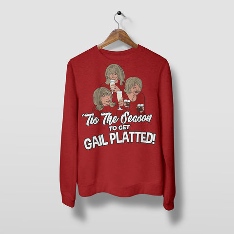 Gail Platted - Unisex Christmas Jumper Christmas Jumpers The Manc Store