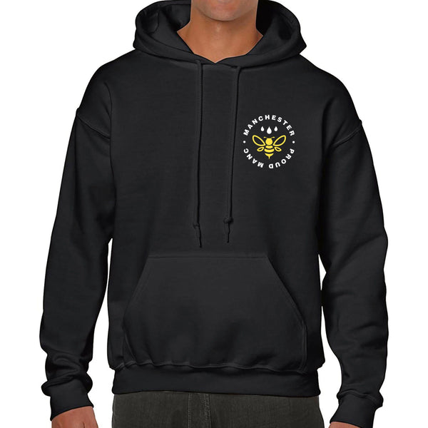 Manchester Worker Bee Pocket Emblem Hoodie Hoodies The Manc Store Small