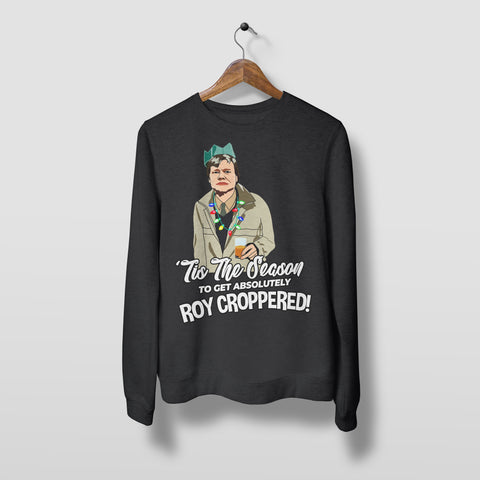 Roy Croppered - Unisex Christmas Jumper Christmas Jumpers The Manc Store Small Black